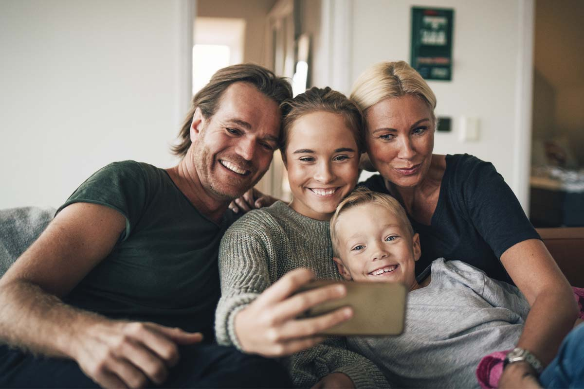 Webber family taking a selfie